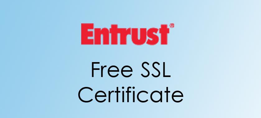 Entrust Free SSL Certificate