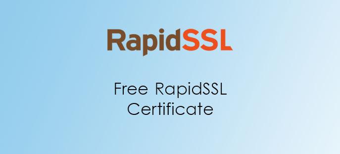 Free RapidSSL Certificate