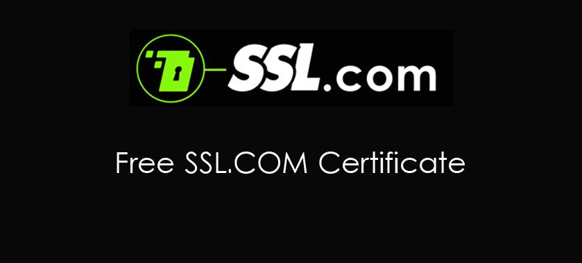 Free SSL COM Certificate