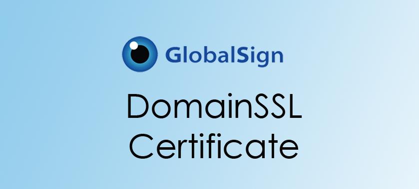 GlobalSign DomainSSL Certificate