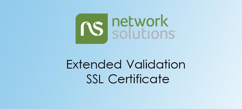 Network Solutions Extended Validation SSL