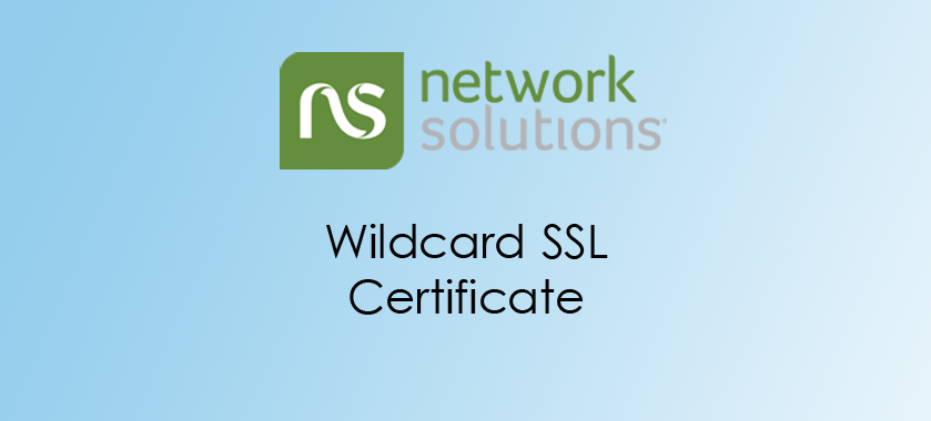 Network Solutions Wildcard SSL