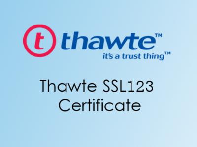 Thawte SSL123 Certificate