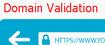 Domain validaiton