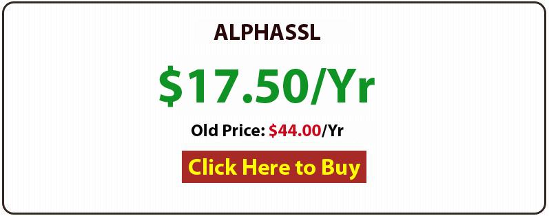 alphassl certificate