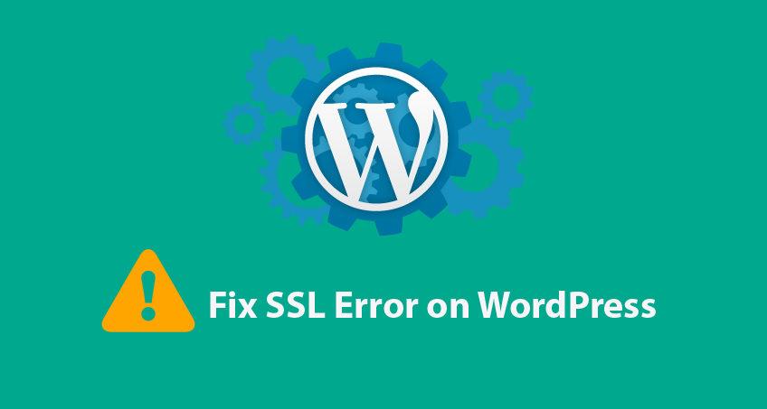 Wordpress ssl error