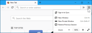 Refresh firefox browser - 1