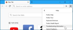 Refresh firefox browser - 3