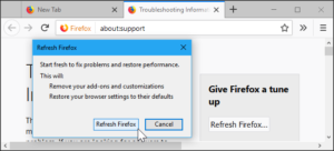 Refresh firefox browser - 5