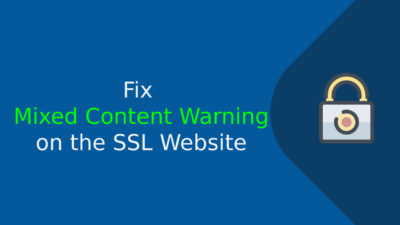Fix Mixed Content Warning on the SSL Website