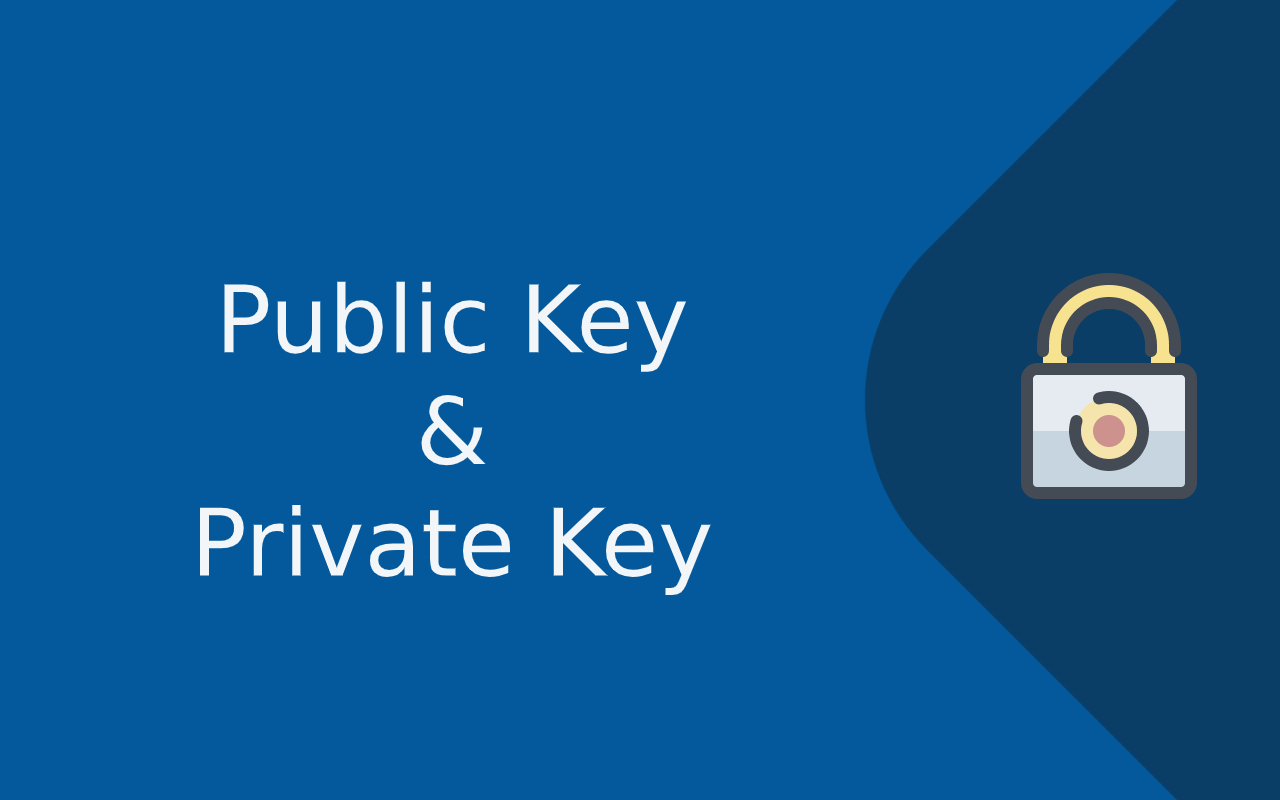 Asymmetric cryptography - public and private key