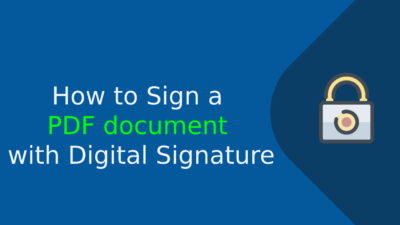 sign a pdf document with digital signature