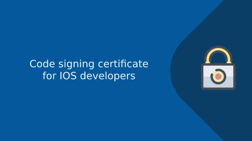Code signing certificate for IOS developers