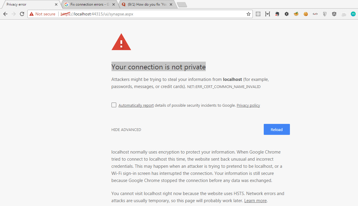how to fix your connection is not private