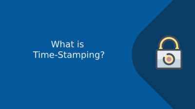 What is time-stamping?