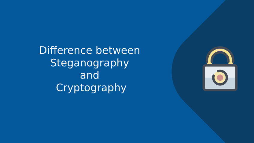 What is the difference between steganography and cryptography?