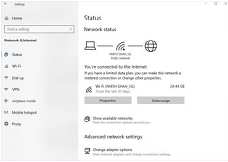 Check your internet connection is stable